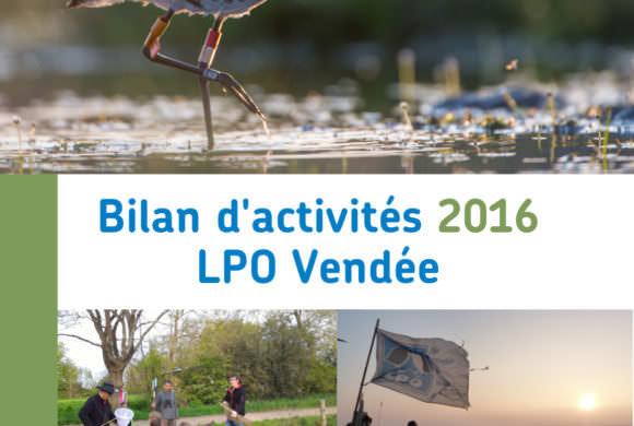 Bilan d'activités 2016 de la LPO Vendée