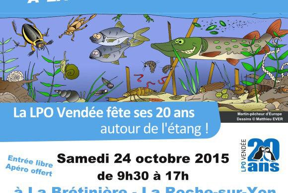 La LPO Vendée fête ses 20 ans autour de l'étang !