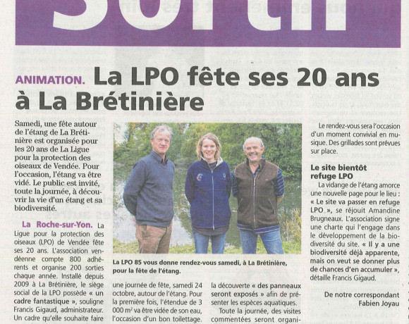 Fête de l'étang à La Brétinière