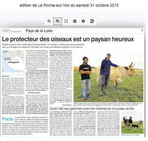 Ouest France du 31 octobre 2015 : Page régionale