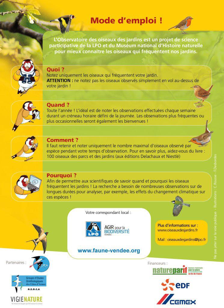 Oiseaux des jardins : Mode d'emploi