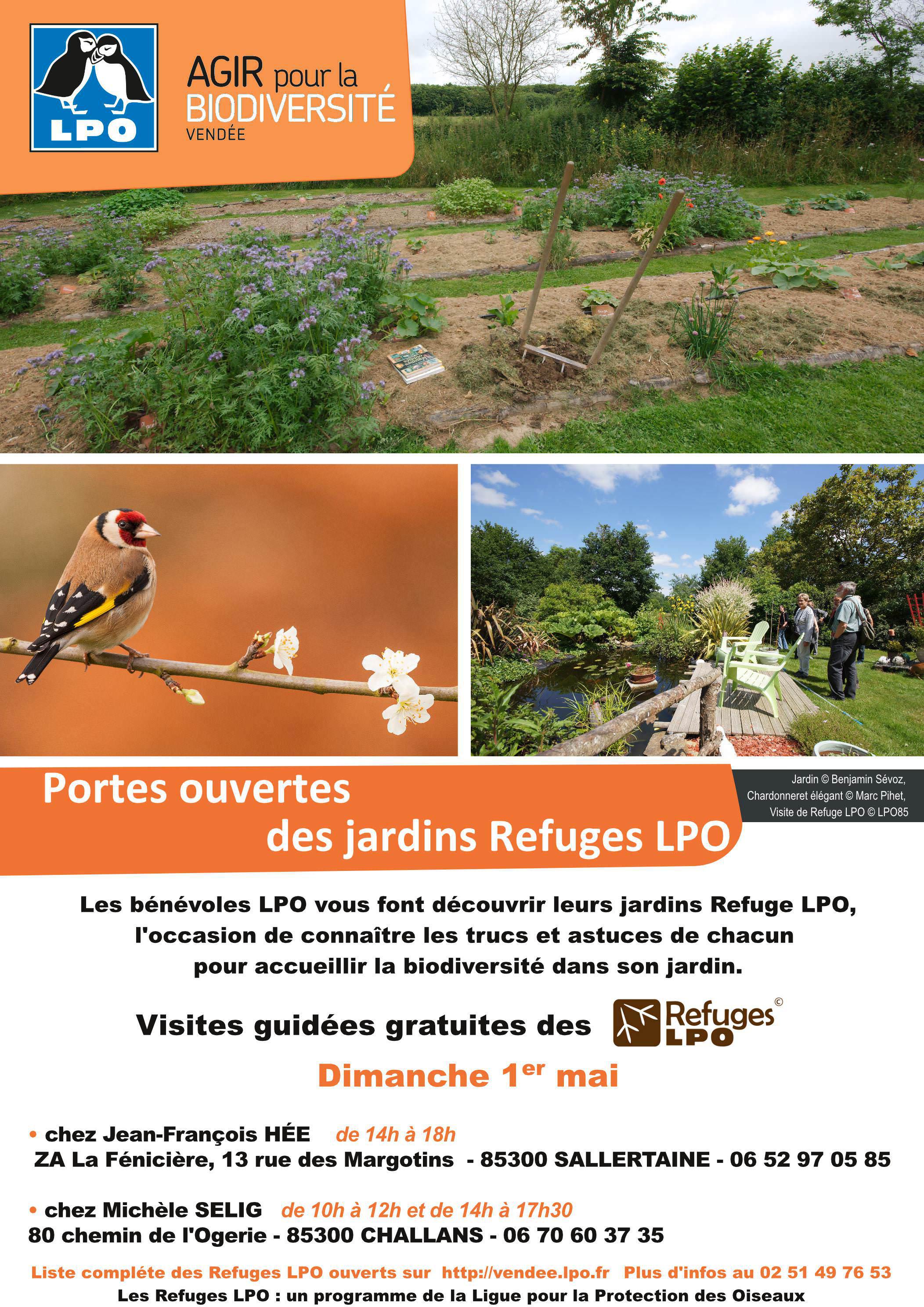 Portes ouvertes du jardin Refuge LPO de Jean-François