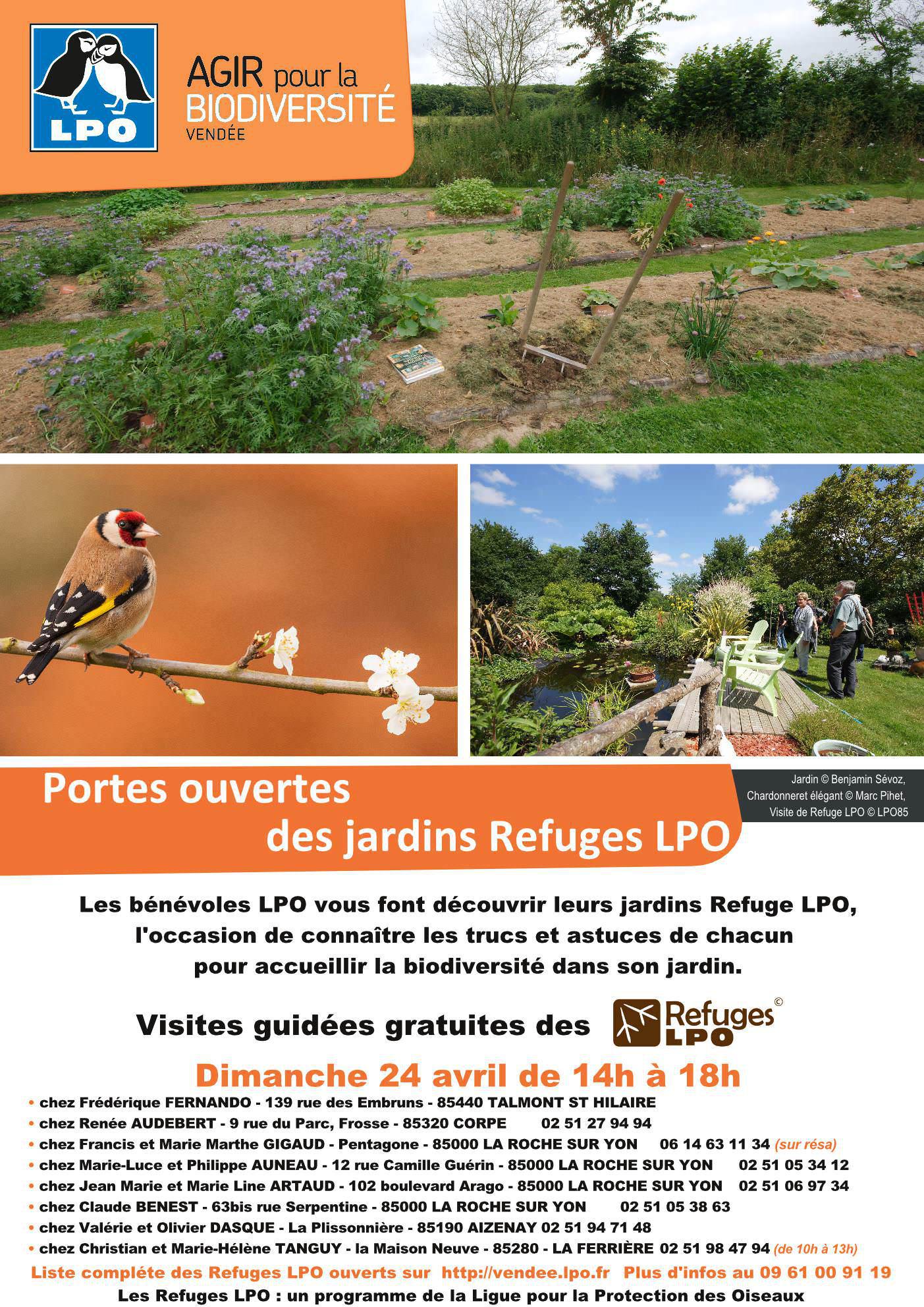 Portes ouvertes du jardin Refuge LPO de Renée