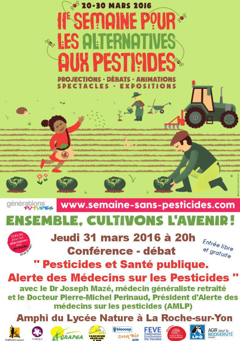 """Conférence - débat """"Pesticides et Santé publique. Alerte des Médecins sur les Pesticides"""""""