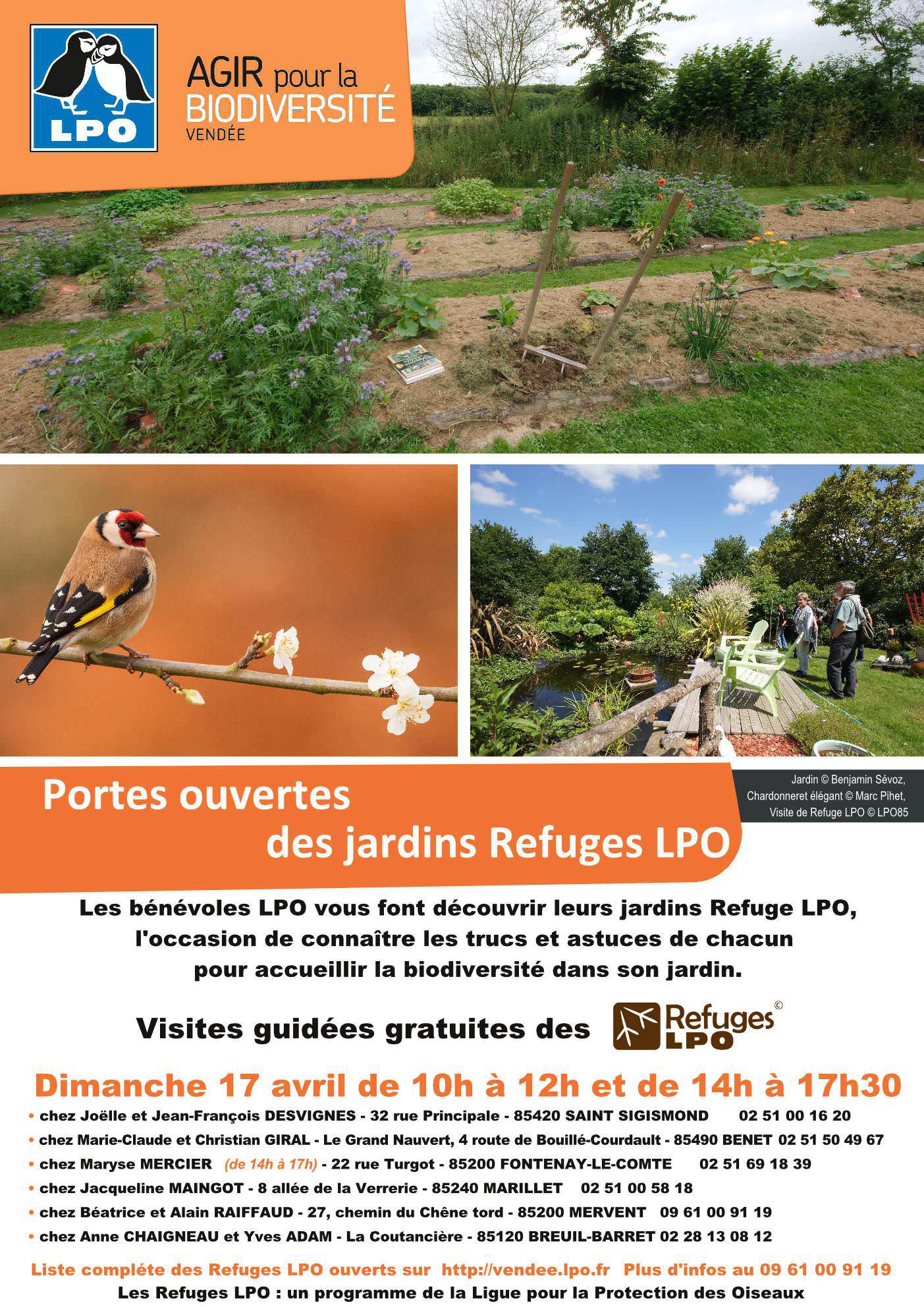 Portes ouvertes du jardin Refuge LPO de Béatrice et Alain