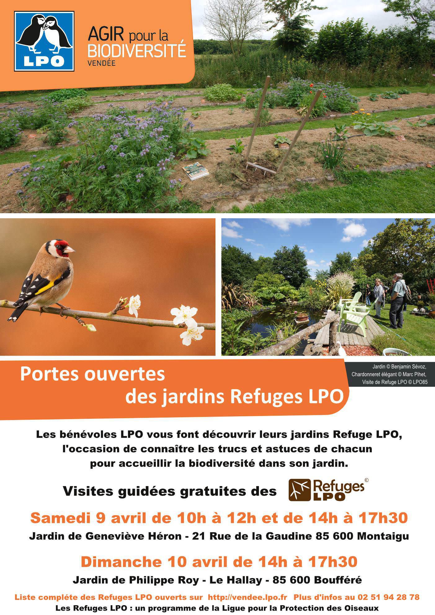Portes ouvertes du jardin Refuge LPO de Geneviève