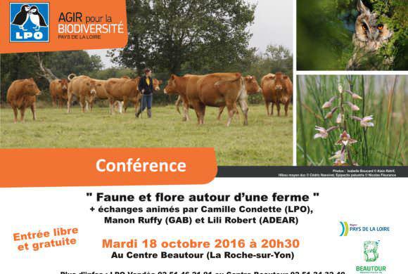 """Conférence """"Faune et flore autour d'une ferme"""""""