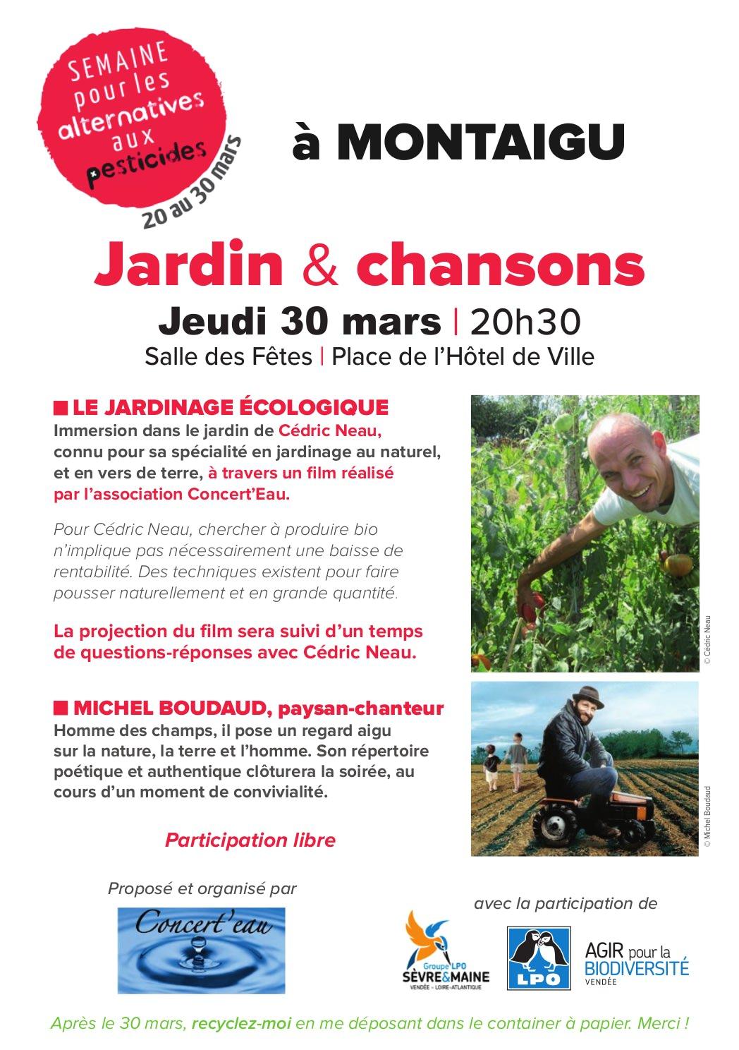 Jardin & Chansons - Soirée cinéma-débat