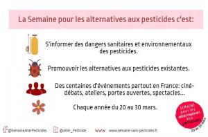 Du 20 au 30 mars, c'est la semaine pour les alternatives aux pesticides !