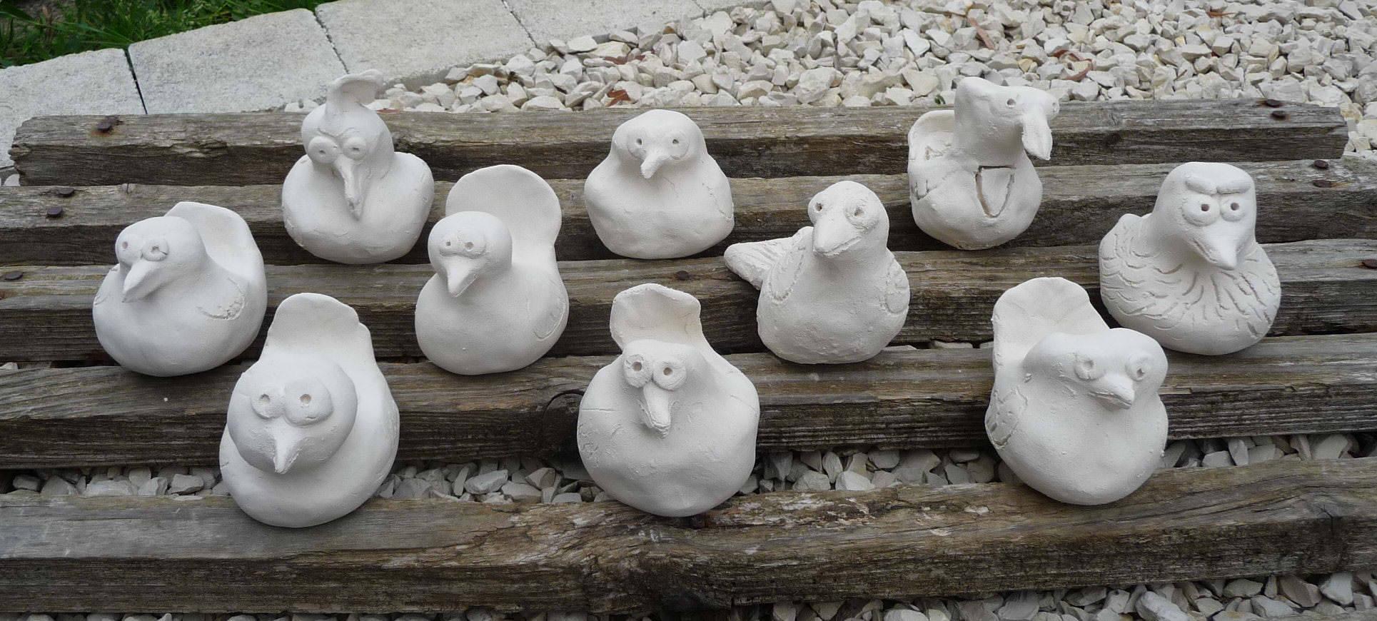 Atelier découverte : drôles d'oiseaux en argile
