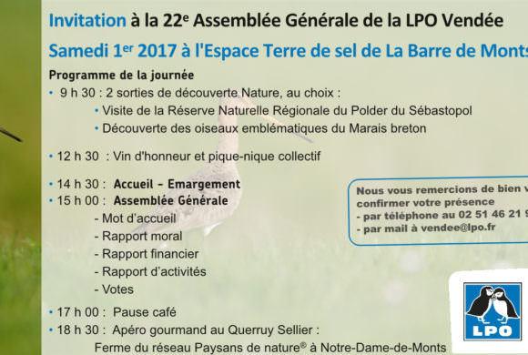 J-1 avant l'assemblée générale de la LPO Vendée !