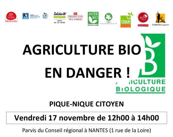 Pique-nique citoyen en soutien à l'agriculture bio