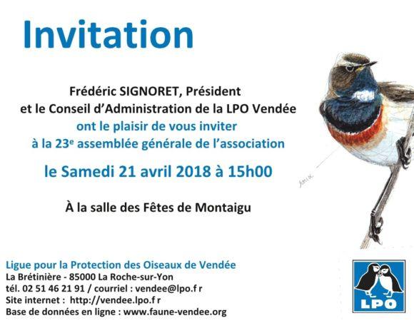AG de la LPO Vendée : RDV dans un mois