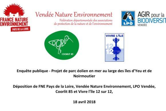 Parc éolien au large des îles d'Yeu et Noirmoutier : des points de vigilance à étudier