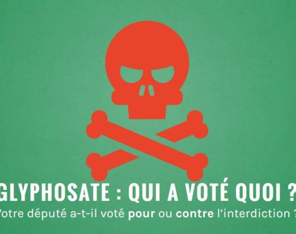 Vote pour l'interdiction du glyphosate