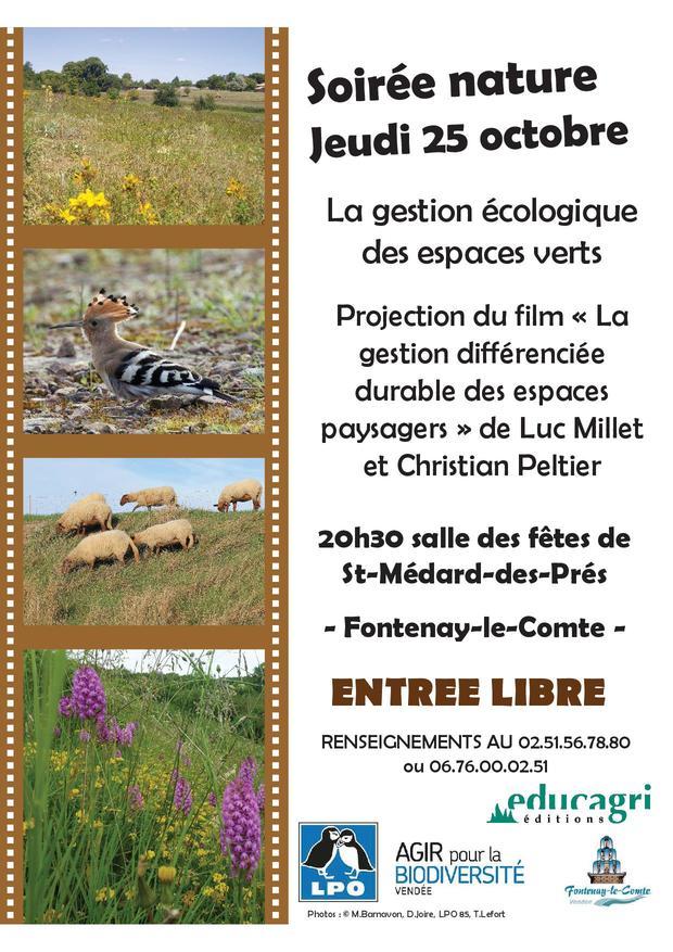 """Soirée nature """"La gestion écologique des espaces verts"""""""