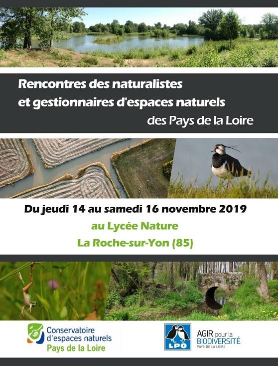 Rencontres des naturalistes et des gestionnaires d'espaces naturels des Pays de la Loire
