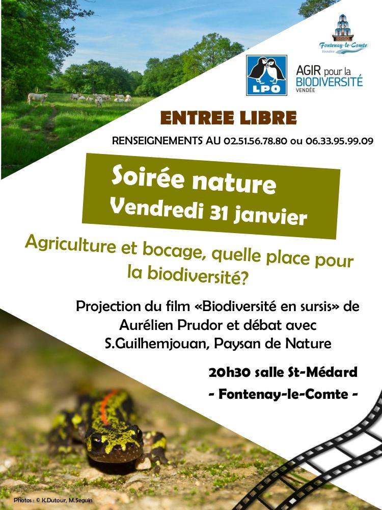 Soirée nature : Agriculture et bocage : quelle place pour la biodiversité ?