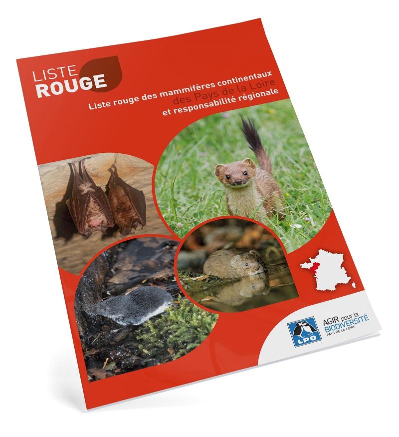 Liste rouge des mammifères en Pays de la Loire - édition 2020 © LPO Pays de la Loire