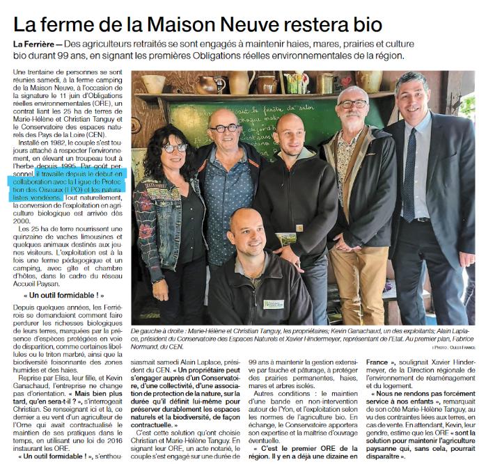 Article Ouest France du 05 juillet 2021